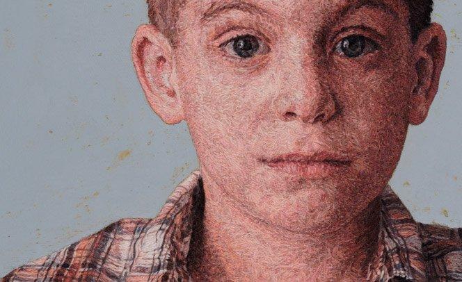 Impressionantes retratos realistas feitos com bordado