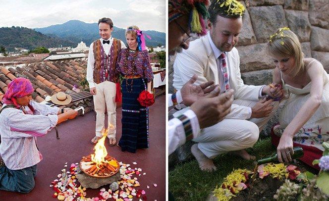 Casal faz um casamento em cada lugar do mundo por onde passa