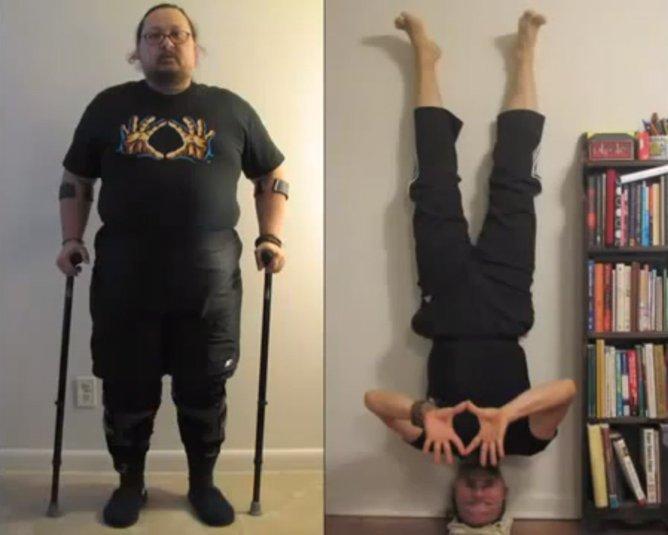 Como um homem perdeu 64 quilos em 10 meses mesmo sem conseguir andar