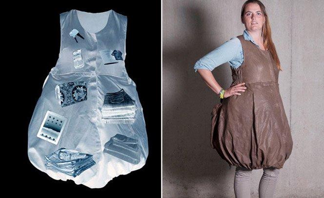 O fim do excesso de bagagem – roupa  permite levar 33kg de bagagem no corpo