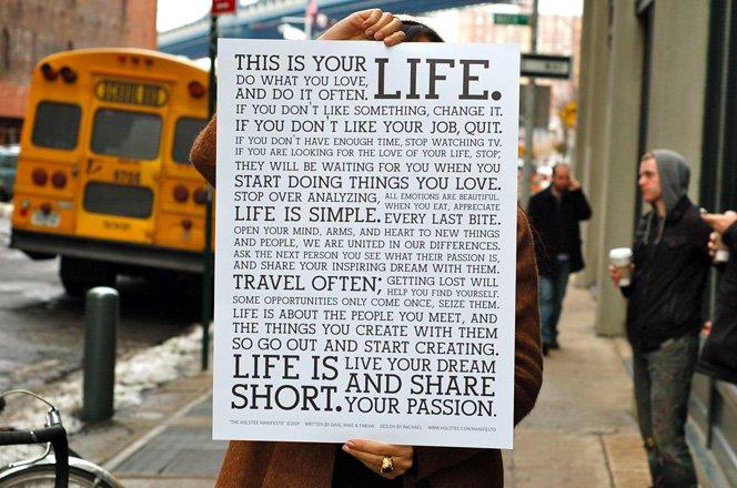 Um manifesto que conta algumas das verdades mais valiosas