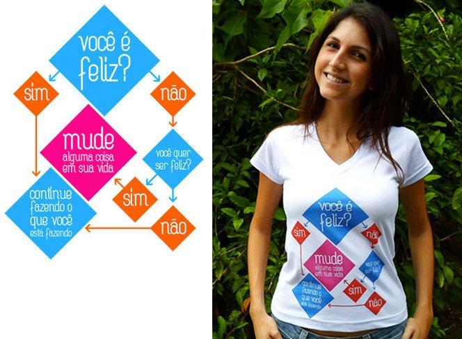 Camisetas para o Ano Novo com mensagens criativas