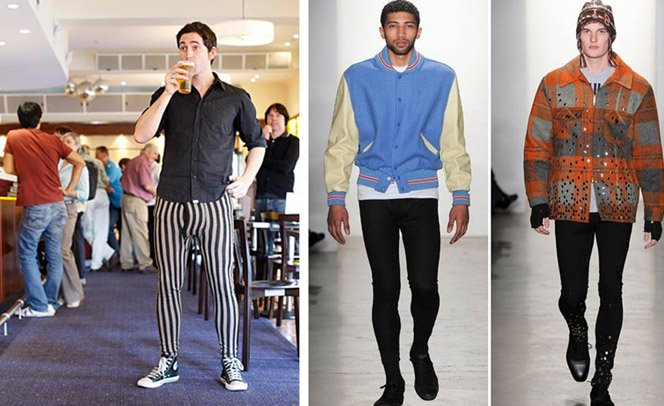 Meggings: leggings masculinas viram febre no Hemisfério Norte