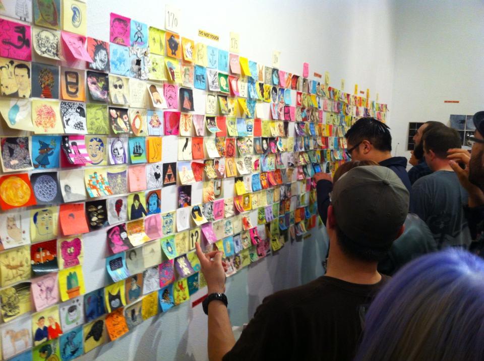 Post-it Show -Uma exposição  de quadros feitos em post-its