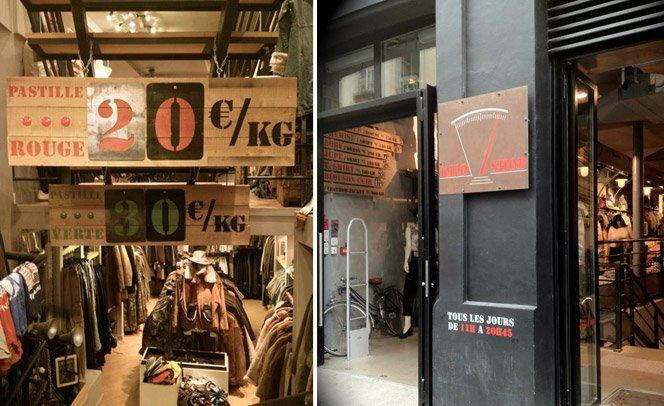 A loja que vende roupas por quilo
