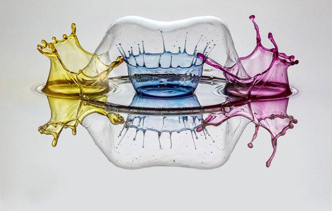 Quando gotas de água se transformam em arte