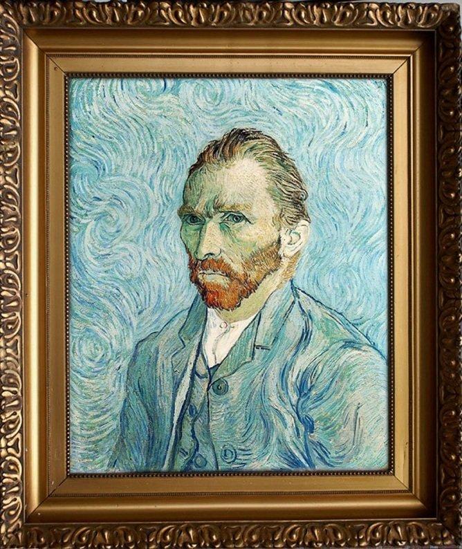 Artista transforma pintura de auto-retrato de Van Gogh em fotografia