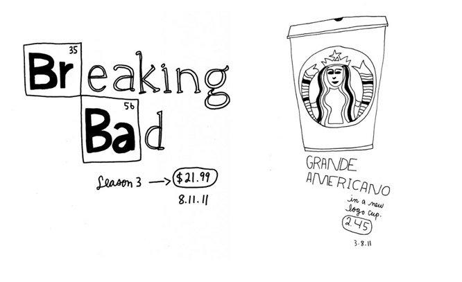 Artista desenha diariamente absolutamente tudo o que compra desde 2006