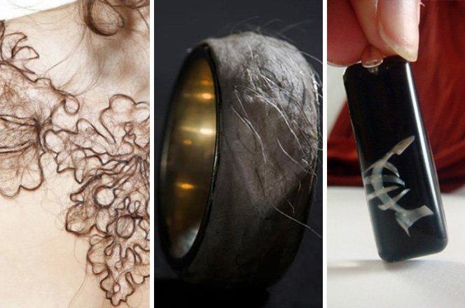 Você usaria essas jóias feitas com cabelo, pele e unhas humanas?