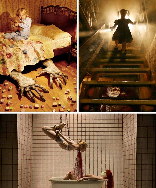 Fotógrafo retrata piores pesadelos que  todo mundo teve na infância