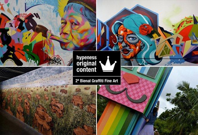 Registramos o melhor da 2ª Bienal Graffiti Fine Art para você
