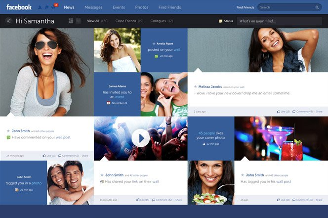 E se o Facebook mudasse o seu design?
