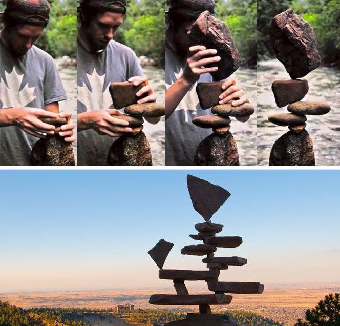 """A gravidade é a única """"cola"""" que mantém essas rochas em equilíbrio"""