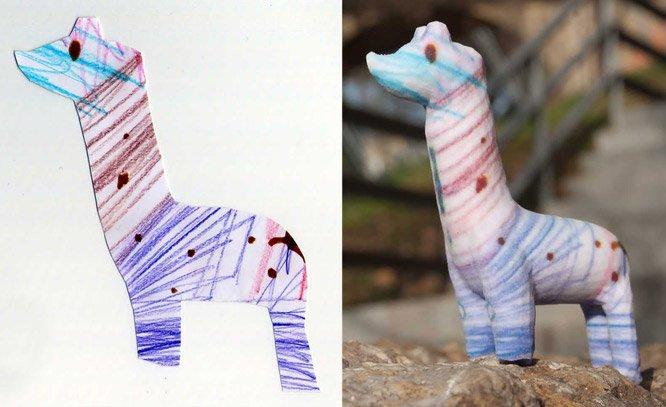 Desenhos infantis viram esculturas através de impressão 3D