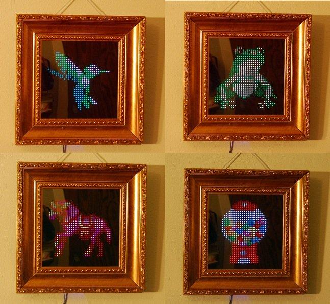 Que tal pendurar quadros com pixels em movimento na parede da sua casa?