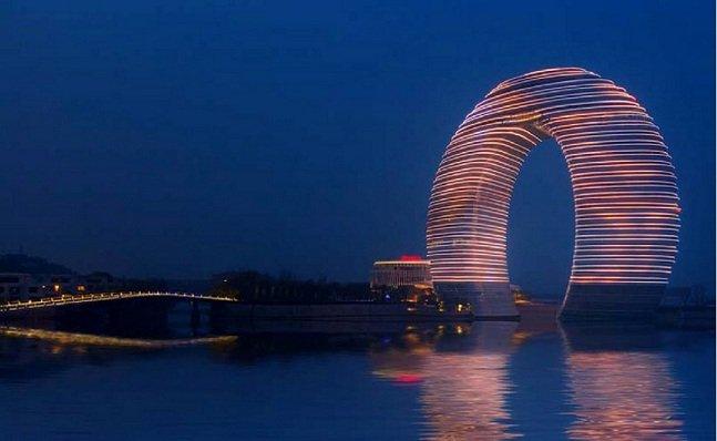 Arquitetura de resort chinês desafia a gravidade