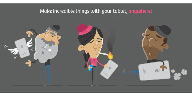 Vectorlooza: app de ilustração para  tablets feito por um ilustrador