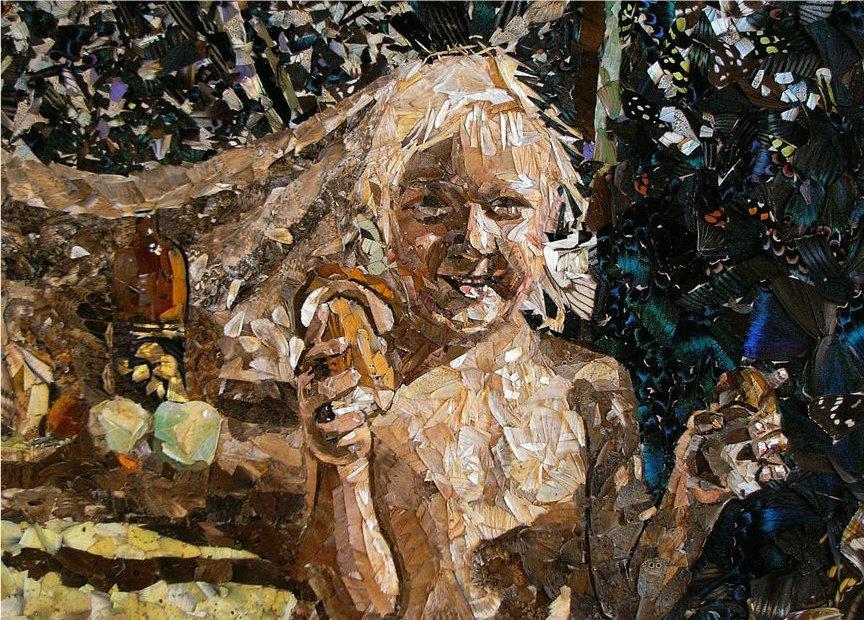 Artista usa asas de borboletas mortas em seus quadros