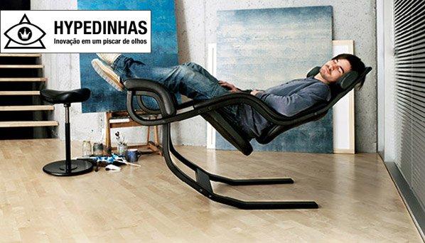 Cadeira inovadora dá a sensação de estar flutuando