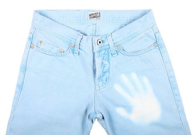 O jeans que muda de cor conforme o calor do seu corpo