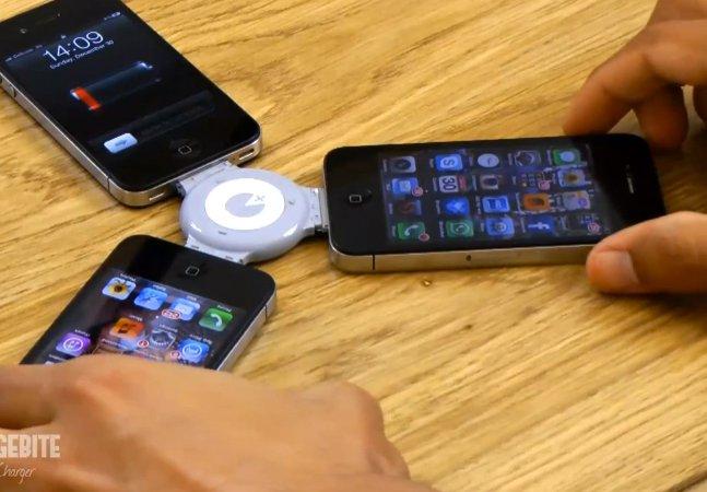 Que tal recarregar seu iPhone usando a bateria dos seus amigos?