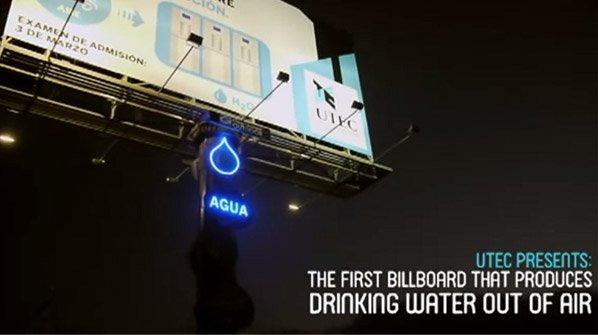 O primeiro outdoor do mundo capaz de gerar água potável