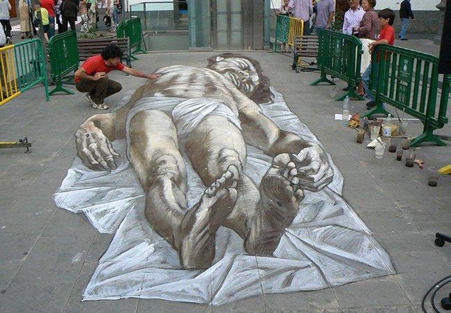 Você também vai ser pego pela ilusão deótica com o graffiti em 3D de Relero