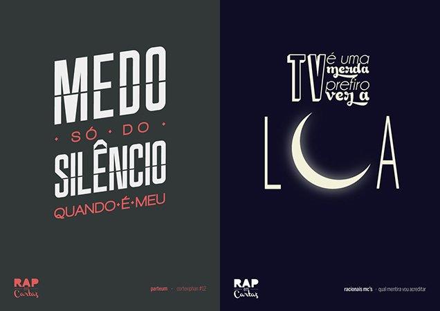 Artista espalha posters com letras de rap provocativas pela cidade de SP