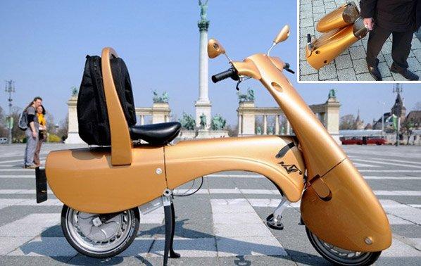 Conheça a scooter dobrável que vira uma maleta de viagem