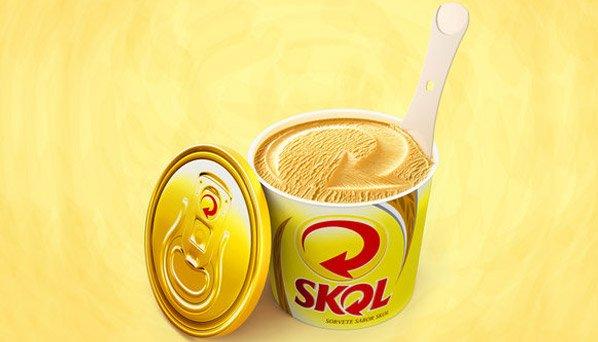 Skol lança sorvete de cerveja fabricado pela Rochinha
