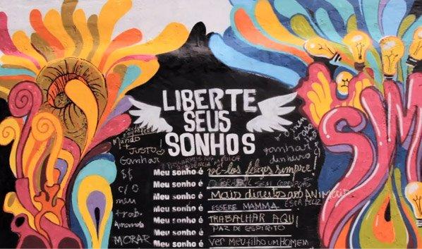Intervenção urbana brasileira convida pessoas a compartilharem seus sonhos