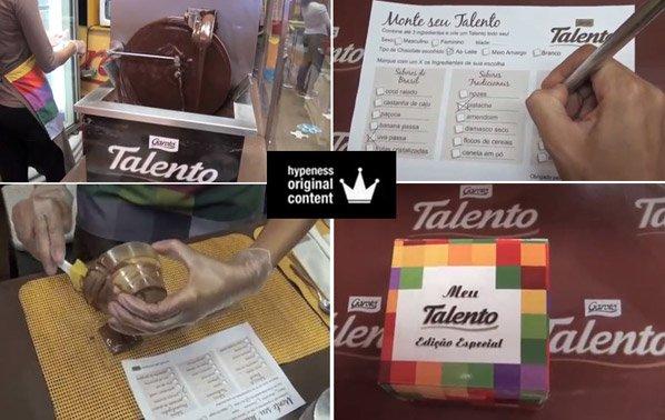 Customize o chocolate Talento com os ingredientes que você quiser