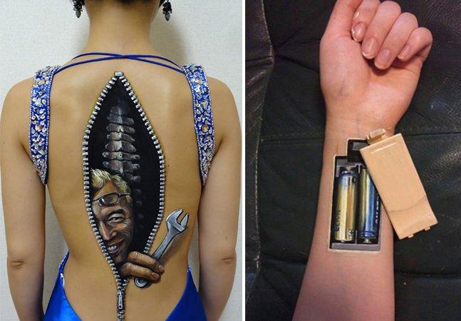 """""""Tatuagem"""" em 3D transforma corpo humano em obra de arte"""