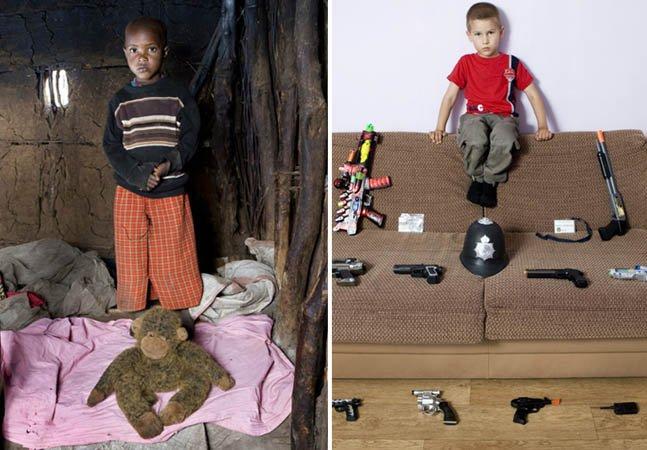 Série de fotos mostra crianças com seus brinquedos ao redor do mundo