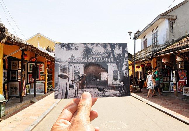 Série fotografica sobrepõe passado e presente no Vietnã