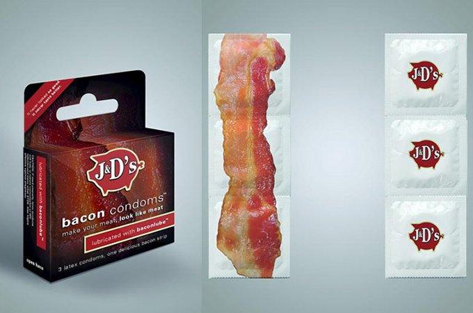 Marca cria camisinha com sabor, cor e cheiro de bacon