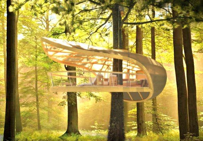 Eco Resort cria casas na árvore para você se hospedar nas alturas