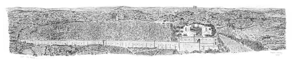 Jerusalem_Panorama_prints_by_Stephen_Wiltshire