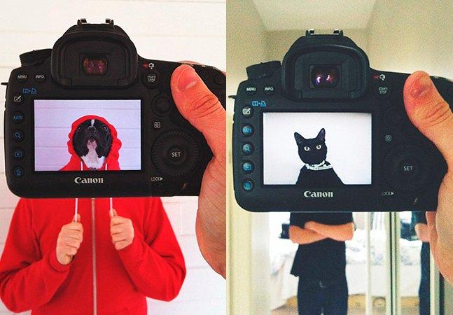 Série fotográfica transforma animais de estimação e seus donos num só