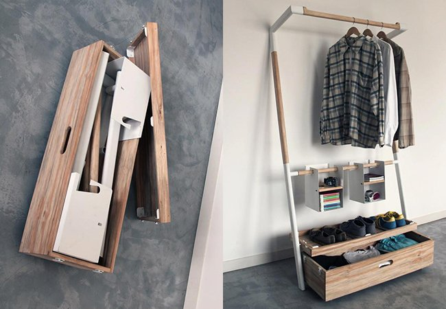 O guarda-roupas mais funcional do  mundo vai com você pra qualquer lugar