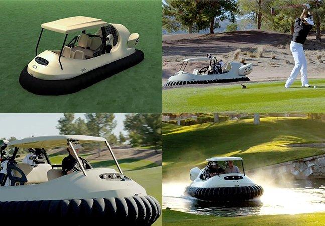 Conheça o carrinho de golf inovador que anda na grama, na areia e na água