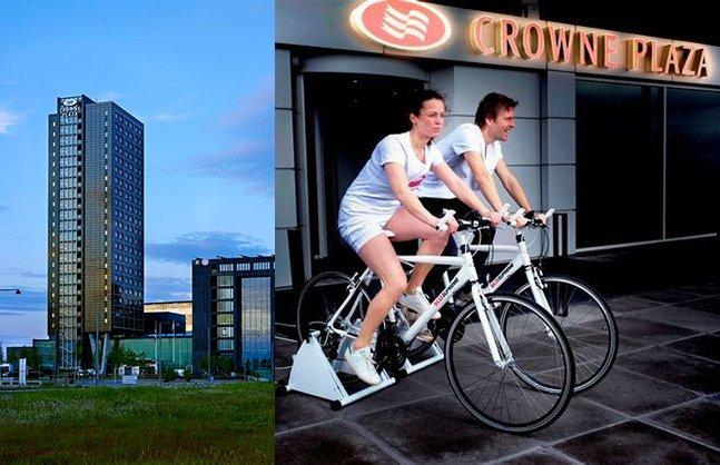 Hotel oferece refeição grátis aos clientes que produzirem energia pedalando