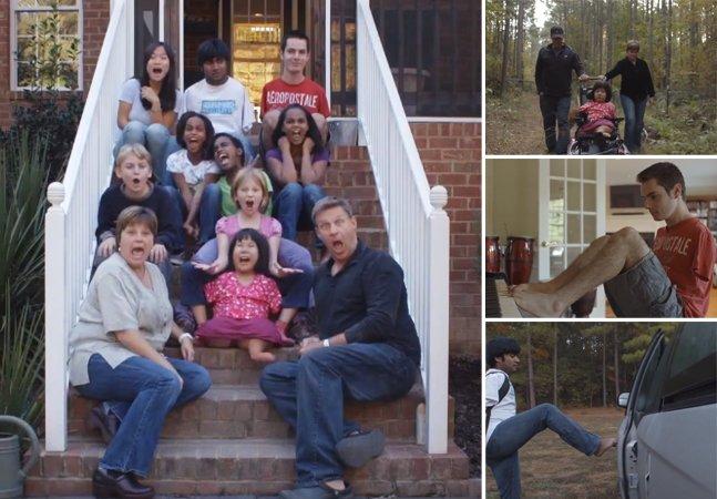Família adota crianças com deficiênciae prova que o amor vence tudo