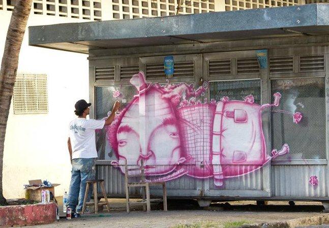 Conheça o grafite do brasileiro Luz  inspirado na cultura nordestina