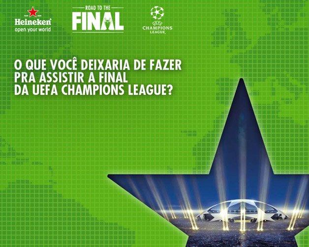 Ganhe uma viagem para assistir a final da UEFA Champions League em Londres