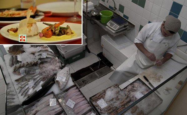 Restaurante- peixaria: você compra e come o peixe no mesmo lugar