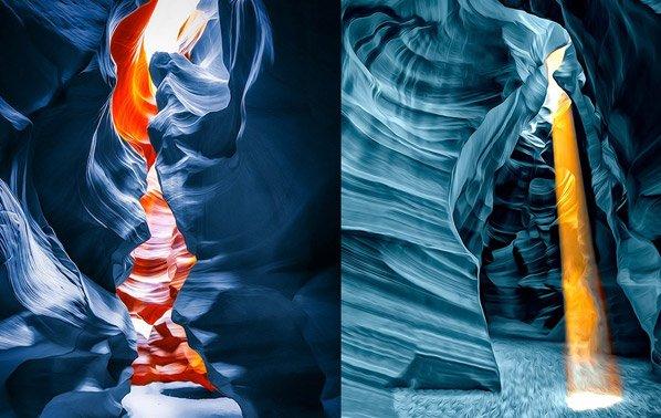 Formações rochosas ganham vida e cores nessas imagens surpreendentes