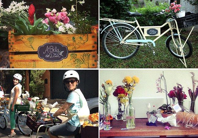 Projeto utiliza bike para trazer mais flores e cores para o dia a dia de SP