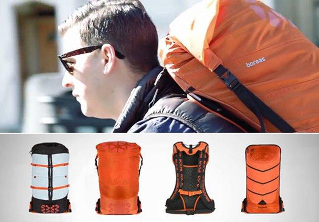 Designers criam mochila inovadora que se adapta a diferentes atividades