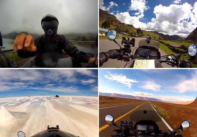 Durante 503 dias, ele percorreu 22 países de moto e registrou tudo com uma GoPro